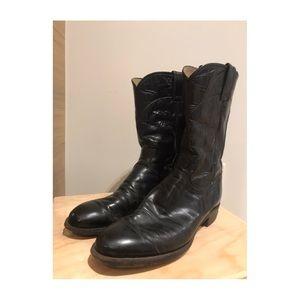Vintage Unisex Justin, Jackson Roper Leather Boots